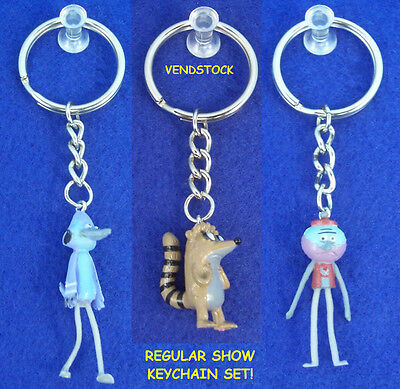 New Regular Show Keychain Backpack Zipper Pull Benson Mort & Rigby You Pick One