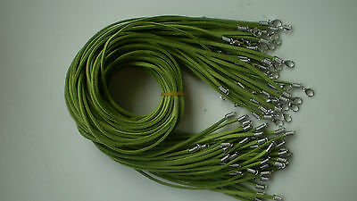 Wholesale 30pcs Green Suede Leather String 20 inches Necklace Cord