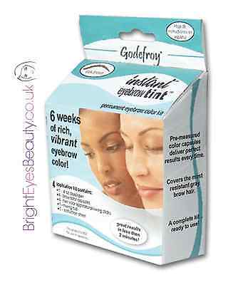 Godefroy Professional Eyebrow Tint *natural Black* 4 Applications Made In Usa