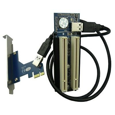 PCI-E to 2 PCI Adapter PCIe convert PCI card support PCI express X1 X4 X8 X16