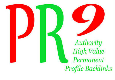 Backlinks from PR9 Authority Sites, Permanent, Dofollow , Panda Proofed !  SEO !