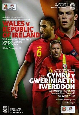 * 2013 - WALES v REPUBLIC OF IRELAND (14th AUGUST 2013) *