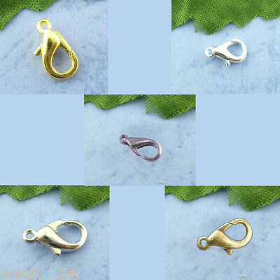 "100PCs Lobster Parrot Clasps Jewelry DIY FIndings 12mmx6mm( 4/8""x 2/8"") M1441"