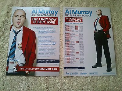 AL MURRAY THE PUB LANDLORD UK Tour/Concert Flyer The Only Way Is Epic TV Comedy