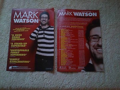 MARK WATSON UK Tour/Concert Flyer Information TV Comedy Stand-Up Mock The Week