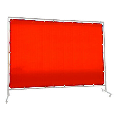 Red Welding Screen / Curtain -  1.8m x 3.4m - Industrial Qualiity -  Hampdon -