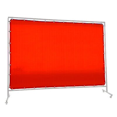 Red Welding Screen / Curtain -  1.8m x 5.5m - Industrial Qualiity -  Hampdon -