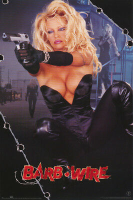 Poster :Movie Repro:barb Wire - Pam Anderson With Gun - Free Ship  #2979 Rw16 S
