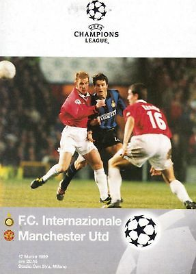 INTER MILAN v MAN UTD - TREBLE SEASON 1998/99