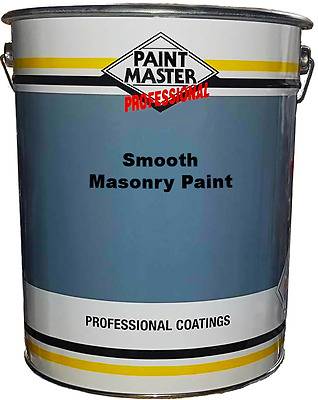 20l Exterior Smooth Trade Acrylic Masonry Paint High Quality (Multiple colours)
