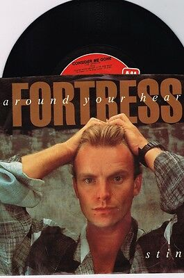 """STING  FORTRESS AROUND YOUR HEART/CONSIDER ME GONE   SINGLE 7"""" PS"""