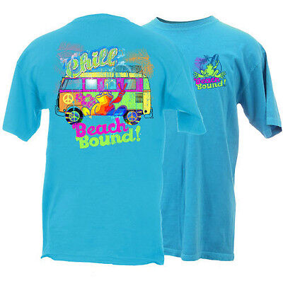 Peace Frogs Beach Bound Garment Dye Small  Adult T-Shirt