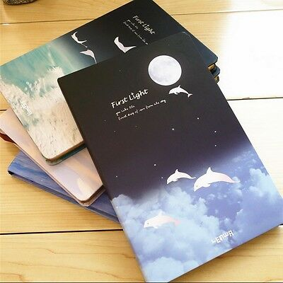"""First Light"" 1pc Hard Cover Lined Pocket Study Notebook Diary Journal Planner"