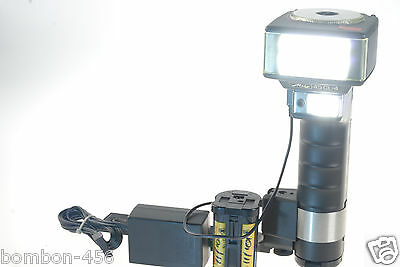 Metz 45 Cl-4 Flash. Aa Holder +Ni-Cad +Charger, Bracket, Very Good Condition.