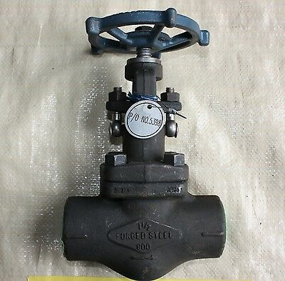 """PH 1.5 inch 1 1/2""""  forged steel Class 800 socket weld gate valve NEW"""