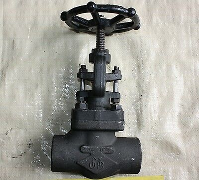"""OMB 1.5 inch 1 1/2""""  forged steel Class 600 BSP A 105N threaded gate valve NEW"""