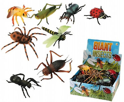 Giant Plastic Insect Toy 6 - 8 Inch Long Flying Bugs Spider Wasp Ladybird Ant