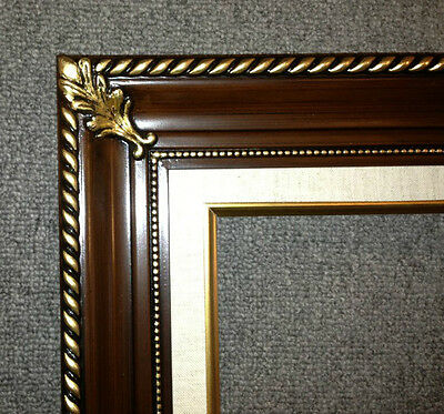 "3.25"" walnut Wood Antique Picture Frame photo art gallery 296W frames4art.com"