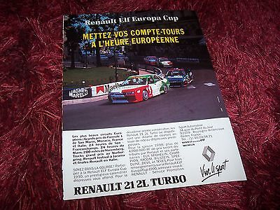RENAULT 21 Turbo 1990 Publicité magazine/ Original French  AD //