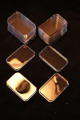 10 AIRTITE HOLDERS (CAPSULES) FOR 1oz SILVER BARS, Air-tite Silver Bar Cases