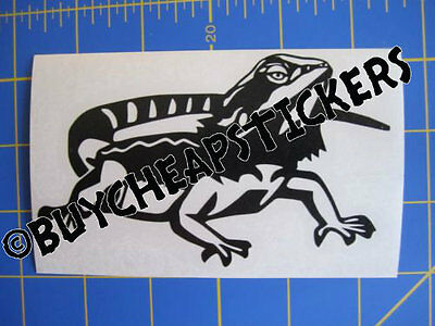 Bearded Dragon Vinyl Decal - Sticker 3x5 - Any Color