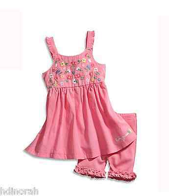 NWT Guess Baby Girls Embroidered Floral Flyaway Dress & Shorts Set