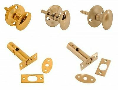 Polished Brass Oval Thumb Turn for Security Rack Bolt Star Door Lock 35mm Rose