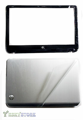 NEW HP PAVILION ENVY M6 SERIES LCD BACK COVER 690231-001 & Bezel Combo with film