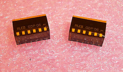 10 pcs GDP06 ALCOSWITCH 6 POSITION PIANO DIP SWITCH SPST SEALED..FREE SHIPPING