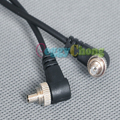 Male to Male FLASH PC Sync Cable Cord with Screw Lock for Flash Trigger / camera