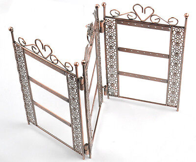 Three Storeys Screen Hangings Earring Necklace Jewelry Stand Holder Display Case