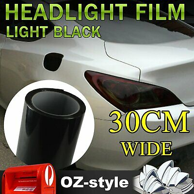Light Black Car Tail Headlight Tint Film Sticker Smoked Overlay Wrap 30 x 100CM