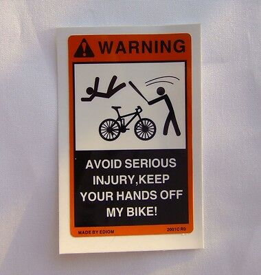 2PCS Small Warning Decals Stickers for Bicycle GT Road Bike for Cannondale Trek