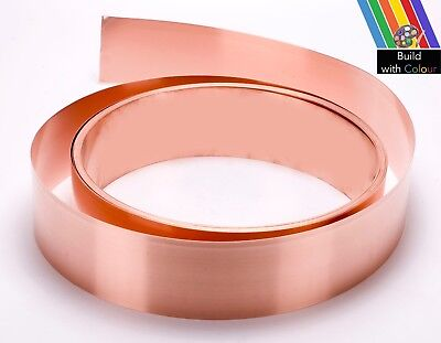 Copper Strip 50mmx0.6mm PER METRE C101, Roofing,Flashing,Moss,Valley