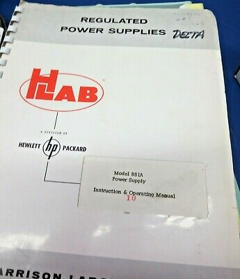 HP 881A Power Supply Instruction & Operating Manual