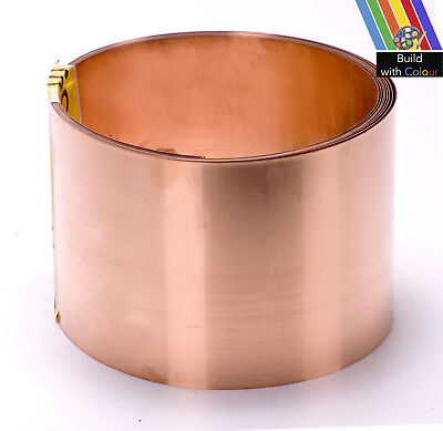 Copper Strip 100mmx0.6mm PER METRE C101, Roofing,Flashing,Moss,Valley