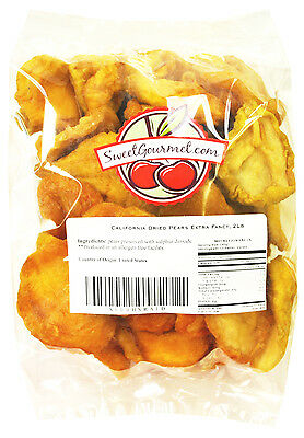 SweetGourmet California Extra Fancy Dried Pears in Halves - 2 LB FREE SHIPPING!