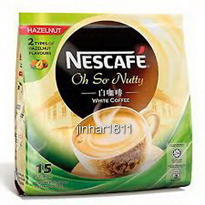1 Pack NESCAFE HAZELNUT Oh So Nutty Ipoh White Coffee + Free Shipping