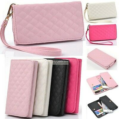 PU Leather Wallet Purse Card Phone Pouch Case For iPhone 4 4S 5 5G 5C iPod Touch