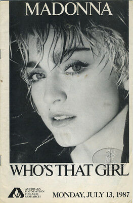 MADONNA 1987 FOUNDATION FOR AIDS RESEARCH Concert Program Madison Square Garden
