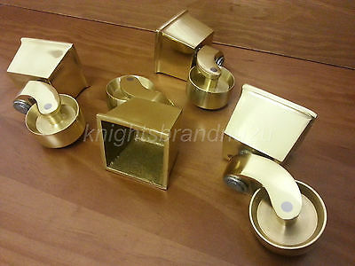 Brass Castor Cup & Socket For Feet/legs: Settees, Sofas, Chairs & Footstools