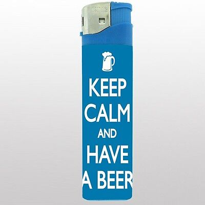 """Jumbo Big Giant 6.5"""" Electronic Lighter Keep Calm and Have a Beer Design-006"""