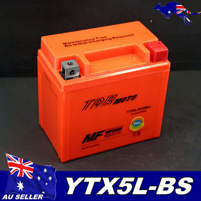 12V 5aH YTX5L-BS GEL Storage Battery for Motorcycle Motorbike ATV Quad Scooters
