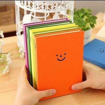 """""""Hello Smile"""" Cute Diary Hard Cover Notebook Sketch Book Planner Journal Memo"""