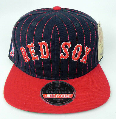 e5a32c45 Boston Red Sox Mlb Vintage Snapback Retro 2-Tone Pin-Stripe Cap Hat Nwt