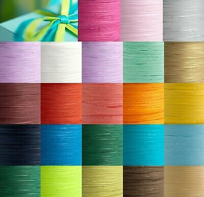 Paper Raffia Tying Ribbon 7mm - 16 Colours Gifts Flowers Craft Wedding Favour