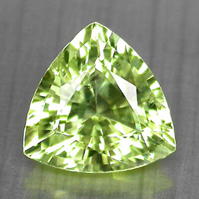 1.92Cts Brilliant 8Mm Trilliant Natural Neon Yellow Green Chrysoberyl See Video