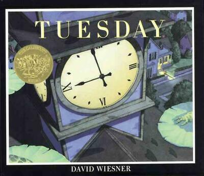 Tuesday by David Wiesner (English) Hardcover Book Free Shipping!