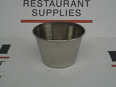 *NEW* UPDATE One Dozen SC-25 Stainless Steel 2.5 oz Sauce Cups x12 - Free Ship