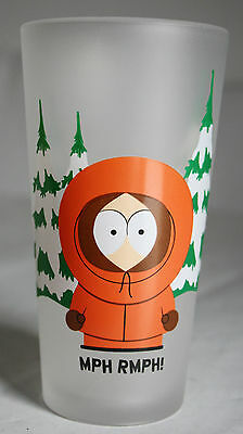 VERY RARE 2000 SOUTH PARK DRINKING GLASS KENNY MCCORMICK 13cm HIGH ! NEW !